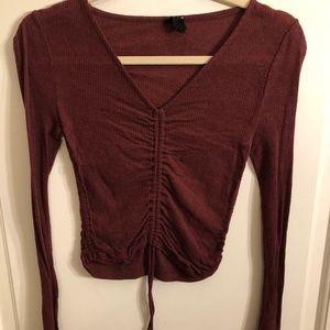 maroon burgundy sweater